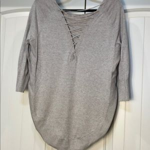 Express Back Lace up Sweater Size Small P